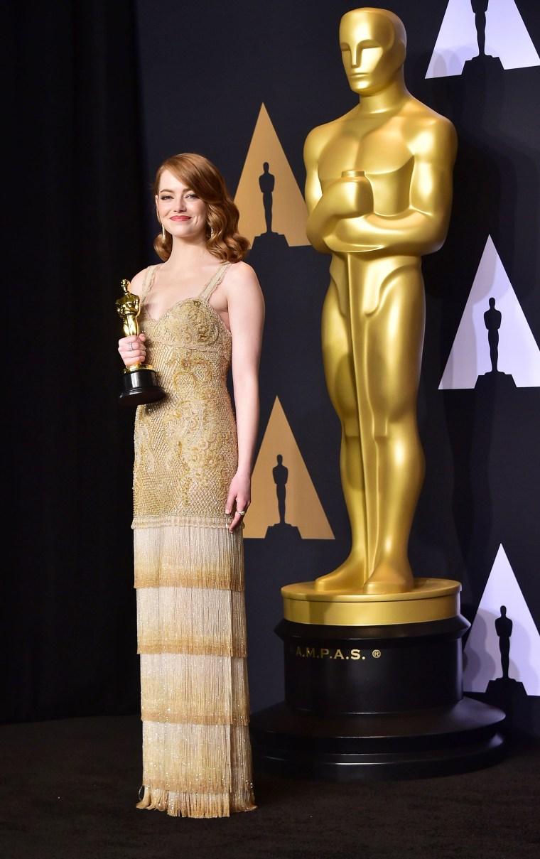 Emma Stone Oscars 2017 dress