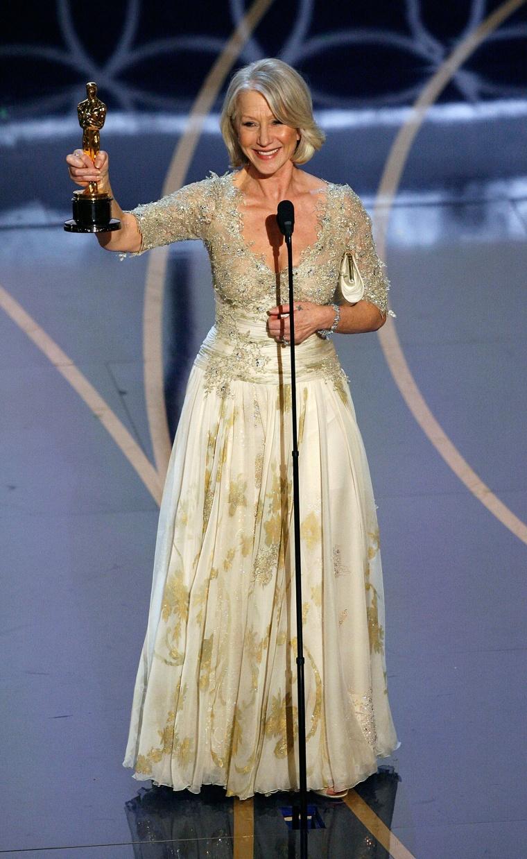 Helen Mirren Oscars Dress