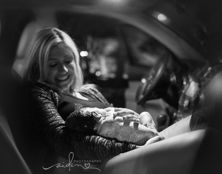 Lauren Strunk, 35, gave birth to her second child in a hospital parking lot with her husband, Noah Strunk, also 35, by her side.