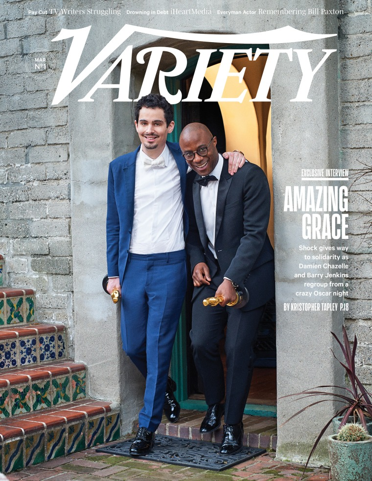 Variety Cover: Damien Chazelle, Barry Jenkins