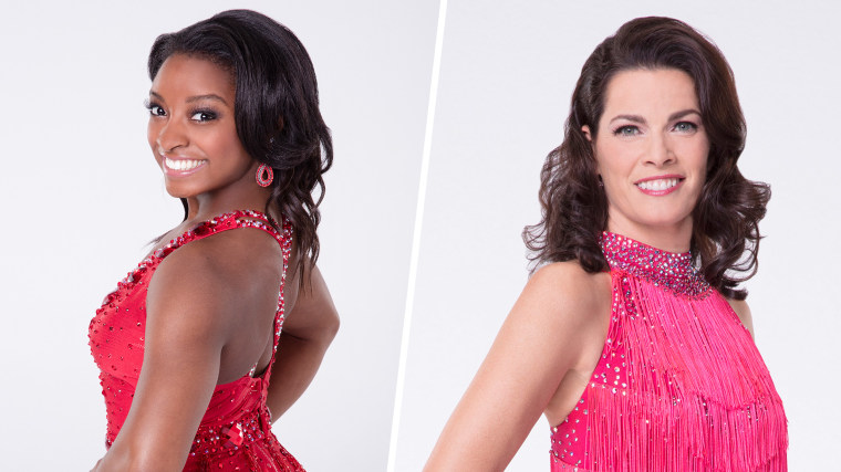 """Olympians Simone Biles and Nancy Kerrigan face off in the new season of """"Dancing with the Stars!"""""""