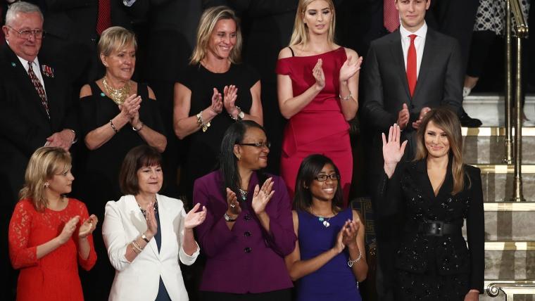 Melania Trump Ivanka Trumo joint session of Congress