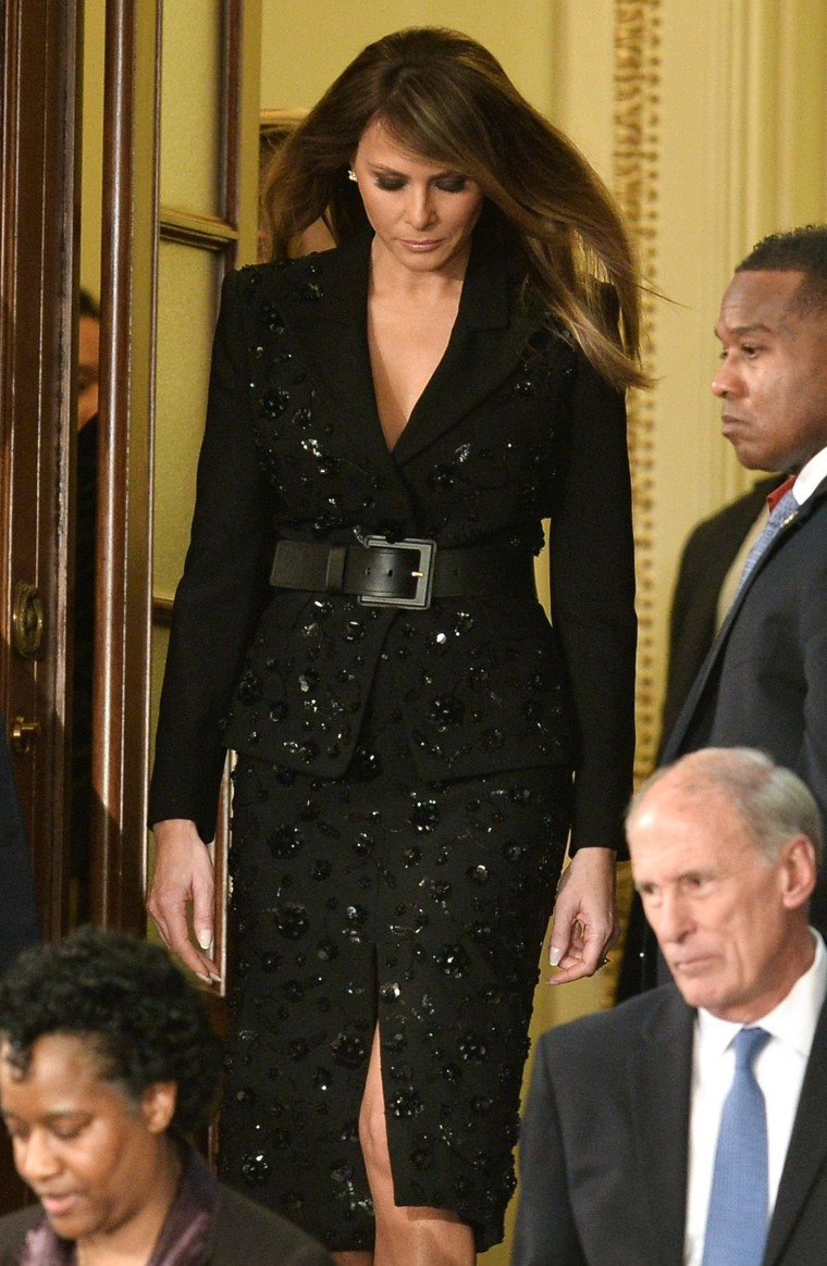 Melania Trump joint session of congress outfit