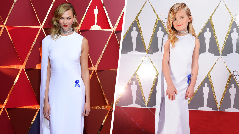 Mini Karlie Kloss' Toddlewood Oscars look