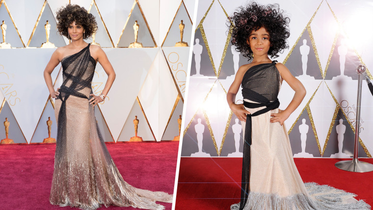 Mini Halle Berry's Toddlewood Oscars look