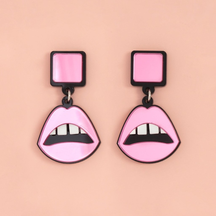 Pink Lips Earrings