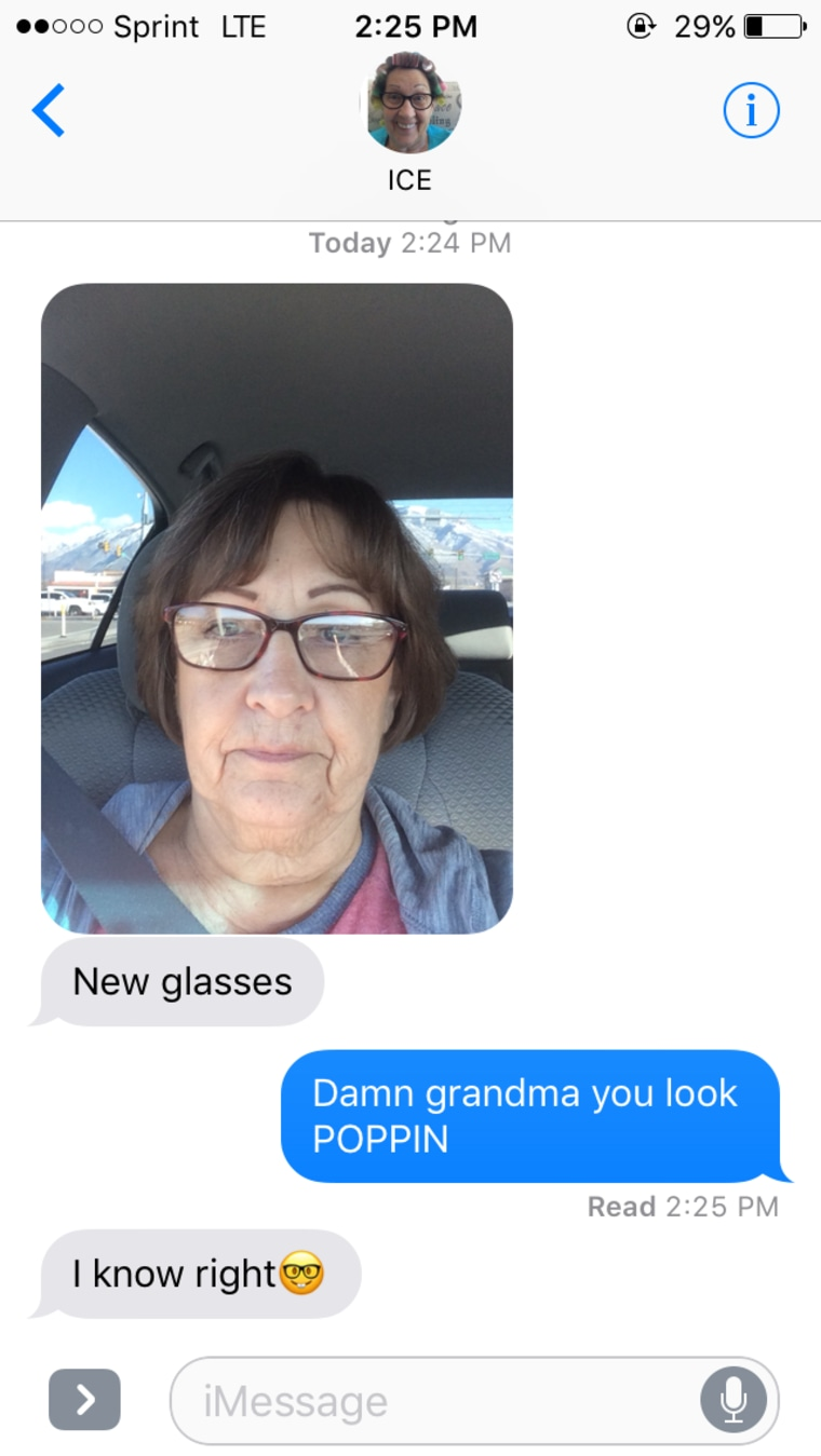 Adorable grandma sends her granddaughter daily pics