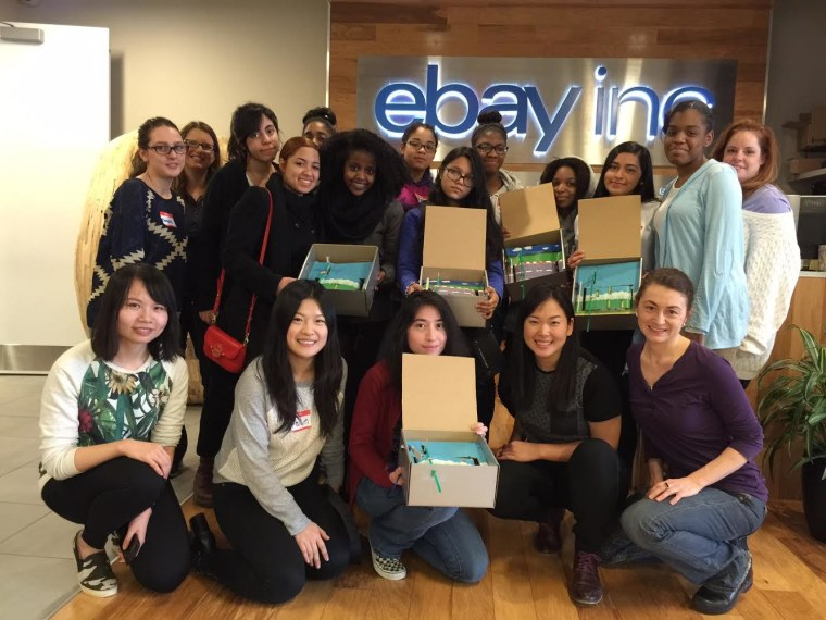Fawn Qiu at a following one of her workshops at eBay.