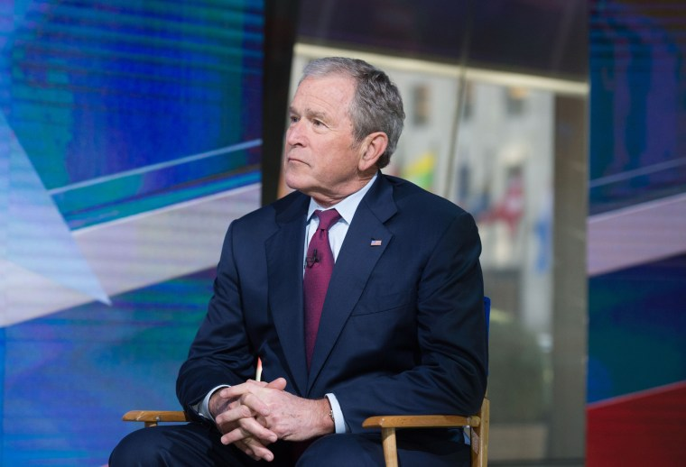 Image: Former President George W. Bush is interviewed on the TODAY show