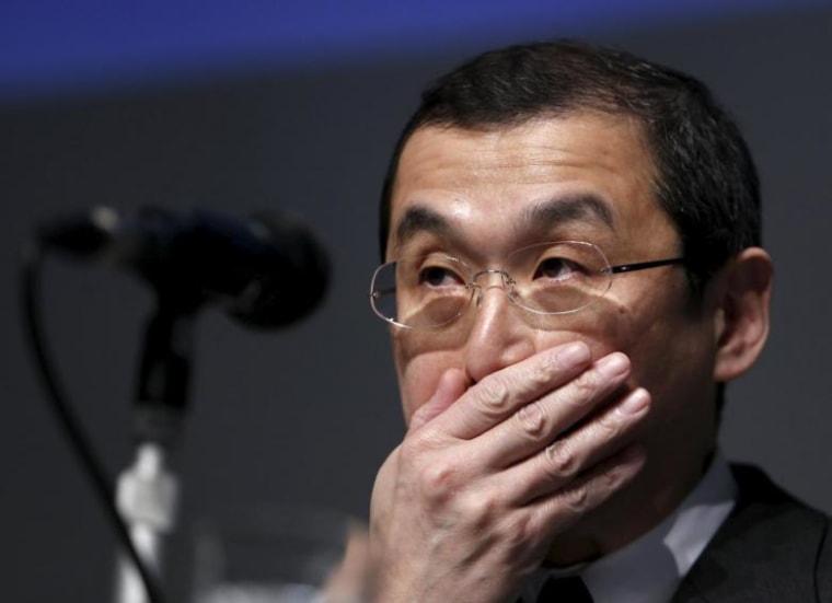 Takata Corp Chief Executive Shigehisa Takada attends news conference in Tokyo