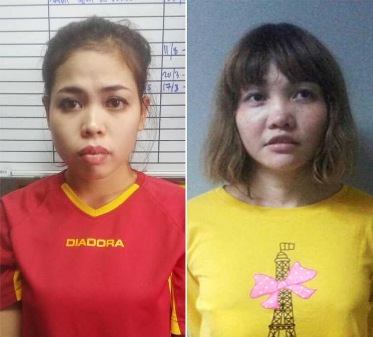 Image: Siti Aisyah and Doan Thi Huong were arrested in connection with the murder of Kim Jong Nam