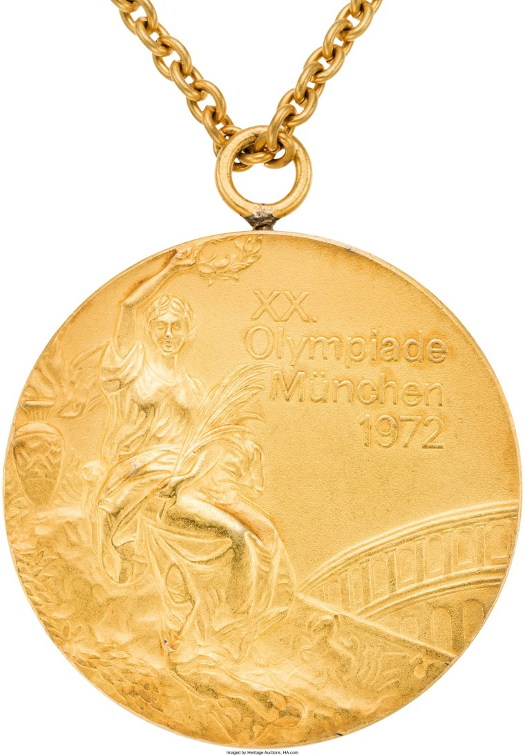 Image: 1972 Munich Olympics USSR Women's Gymnastics Team Gold Medal from The Olga Korbut Collection.
