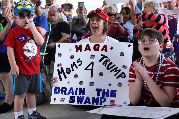 Image: Supporters of U.S. President Donald Trump cheer during a rally in Mandeville, Louisiana