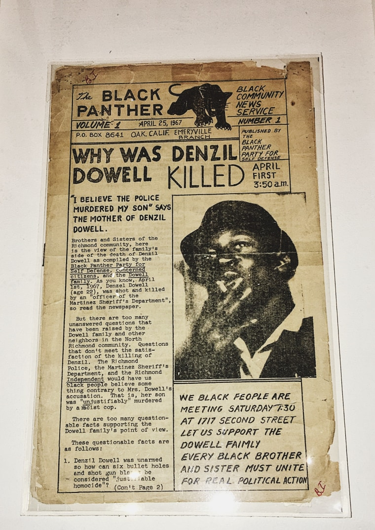 "Schomburg Center's ""Black Power"" exhibition: The Black Panther first issue newspaper."