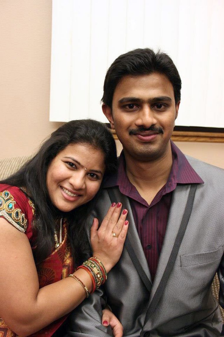 IMAGE: Sunayana Dumala and Srinivas Kuchibhotla