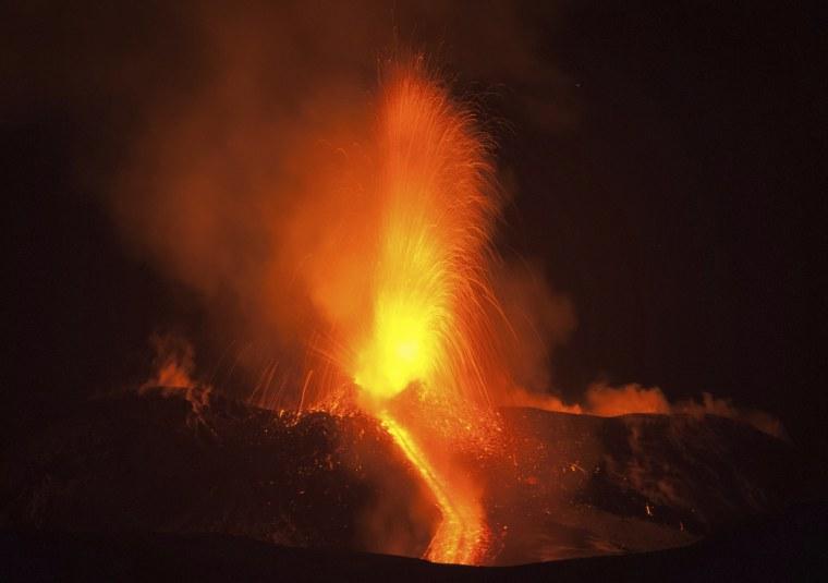 Image: Mount Etna erupts