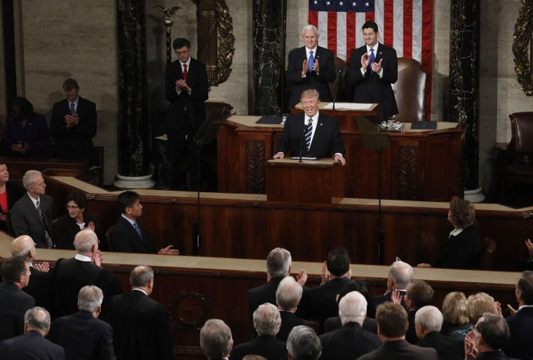 Image: Trump addresses a joint session of Congress