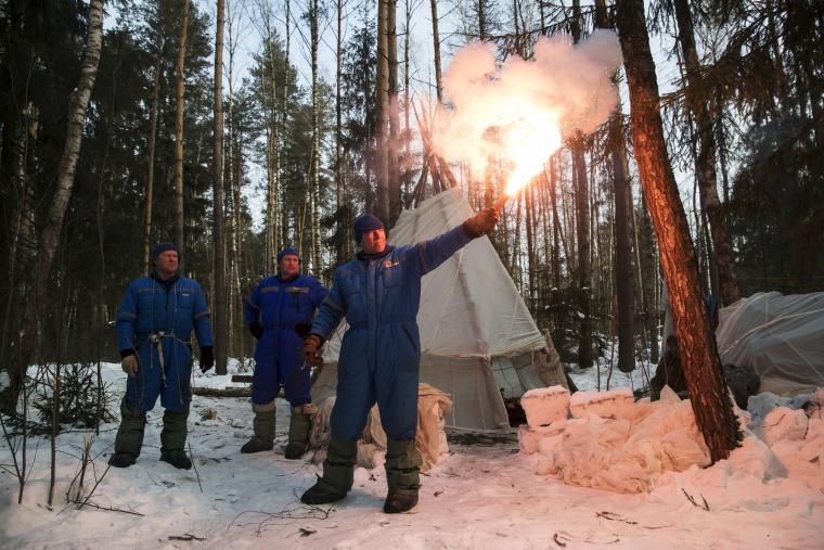 Image: Andrew J. Feustel, Oleg Artemyev, Sergej Prokopyev