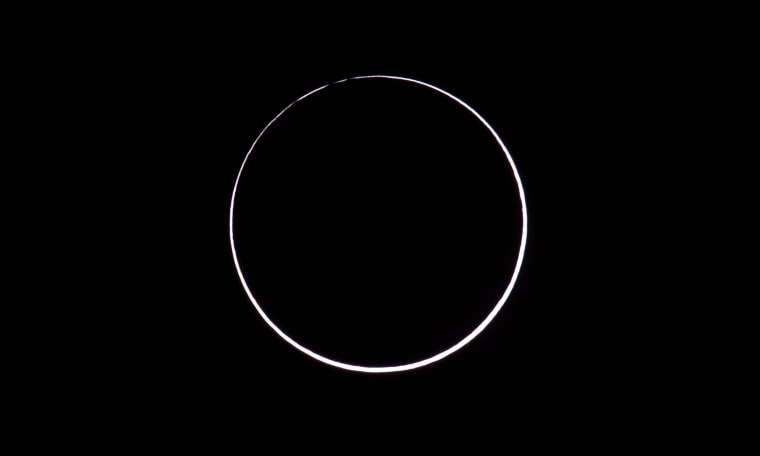 Image: ARGENTINA-ANNULAR-ECLIPSE