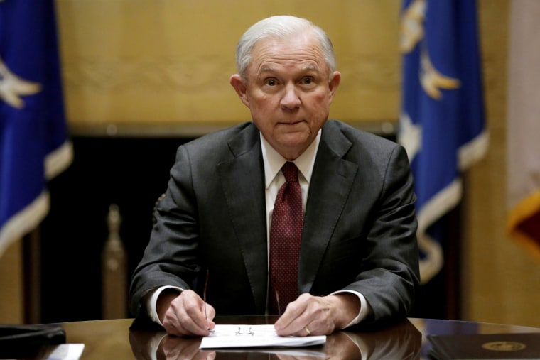 Image: Sessions holds his first meeting with heads of federal law enforcement components