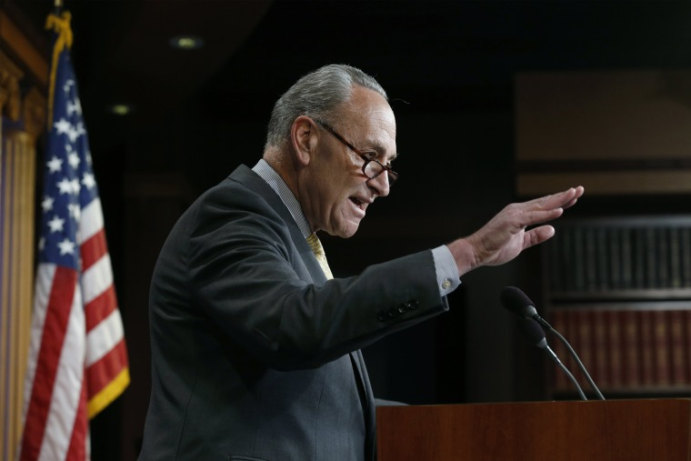 Image: Schumer holds a news conference where  he called for the resignation of Sessions