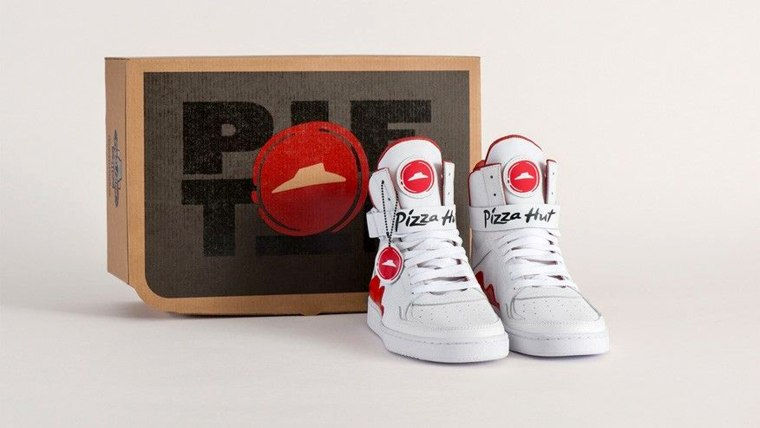 "Pizza Hut ""Pie Top"" shoes."