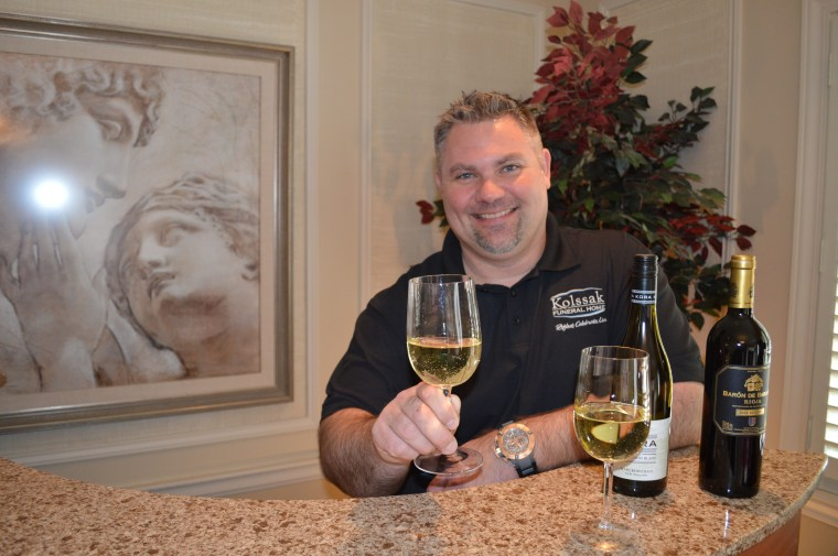 """In Wheeling, Illinois, Kolssak Funeral Home serves alcohol to guests who request a """"beverage option."""""""