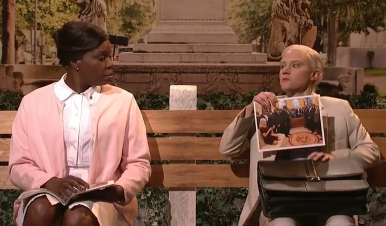 'SNL's Leslie Jones and Kate McKinnon in the cold open on March 4, 2017.
