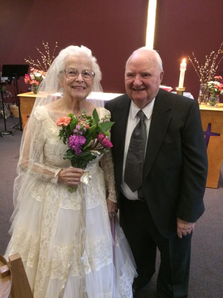 Carol and Bob Bates wedding anniversary