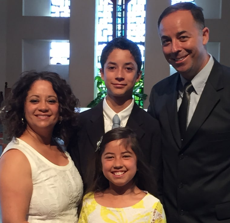 Jose Agredano Jr., 16, with his parents, Dr. Gina Agredano and Jose Agredano Sr., and his sister, Lauren, 11.
