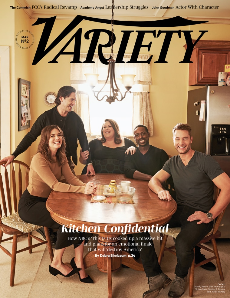 Variety's cover of the This Is Us cast