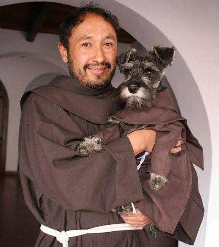 Friar Bigotón, aka Carmelo the dog