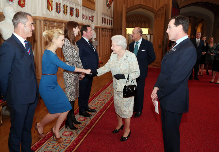 Queen Elizabeth II And The Duke Of Edinburgh Hold A Reception For The British Film Industry