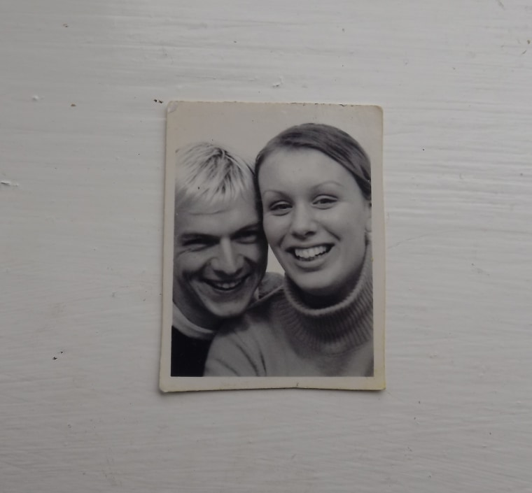 Giles and Michelle Paley-Phillips have taken an annual photo booth picture for 17 years.