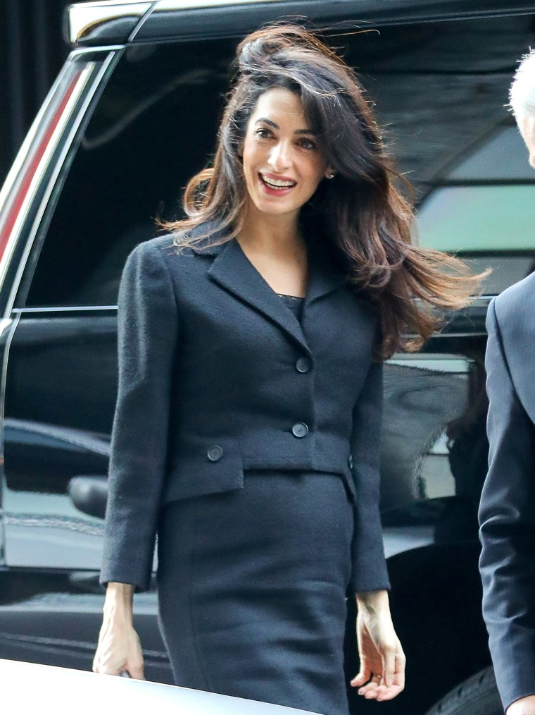 Amal Clooney spotted all smiles while out and about in New York City