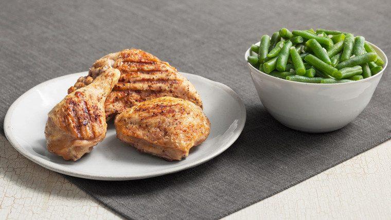 KFC: Kentucky Grilled Chicken Breast (on the bone) and a side of Green Beans