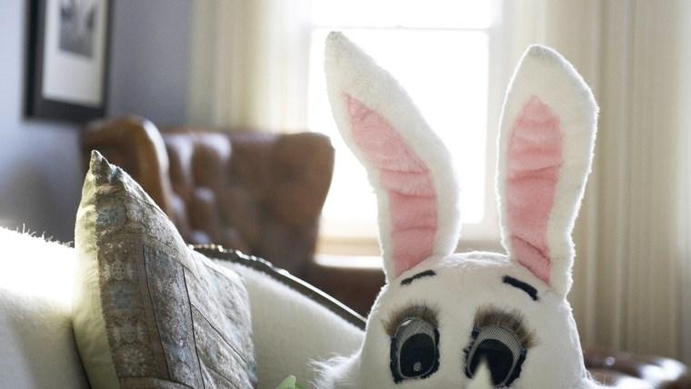 Easter Bunny Mask on Sofa