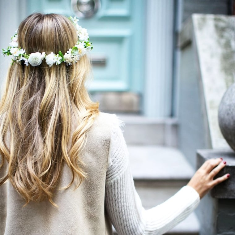 Faux Flower Crown