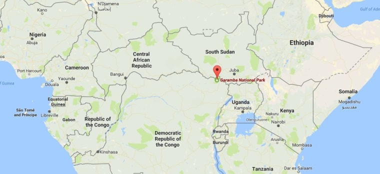 Image: Map showing Garamba National Park