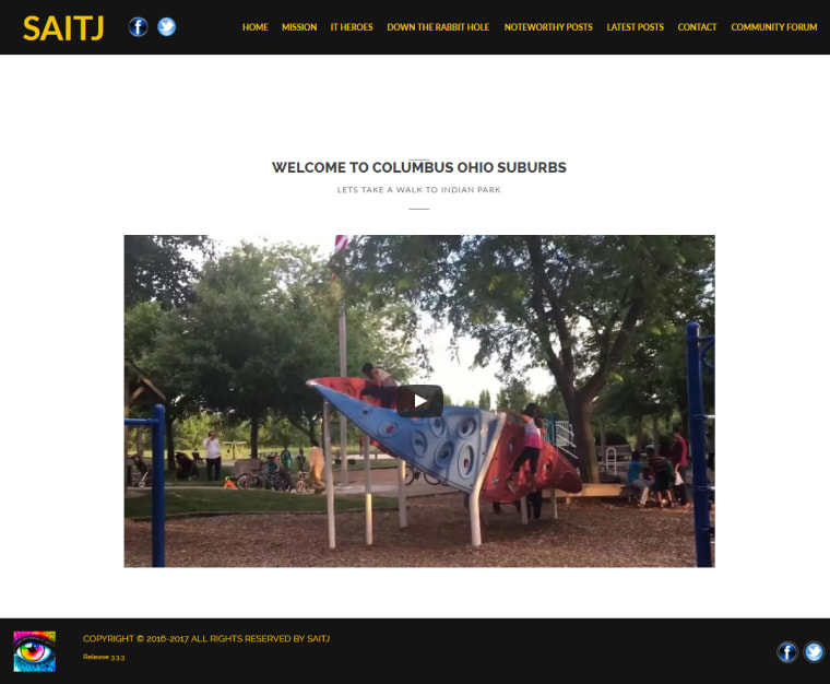 "Image: The ""Save American Information Technology Jobs"" website posted a video of a park frequented by the Indian community in Columbus"