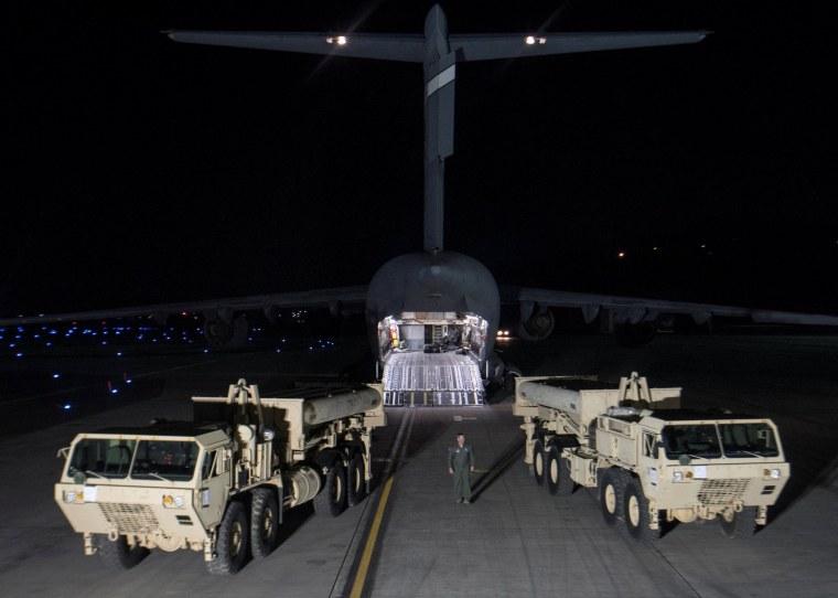 Image: Terminal High Altitude Area Defense interceptors arrive at Osan Air Base in Pyeongtaek, South Korea
