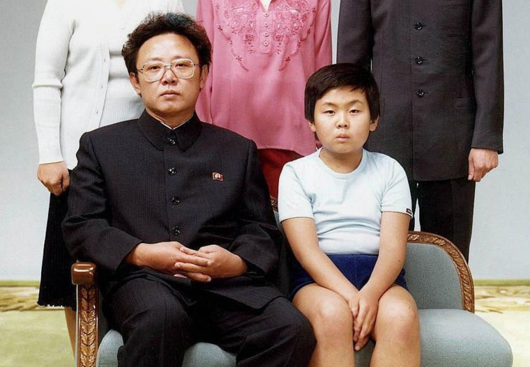 Image: North Korean leader Kim Jong-Il (L) sits with his son, Kim Jong-Nam (R), for a family portrait in Pyongyang, North Korea on Aug. 19, 1981 and released to AFP in 2000.
