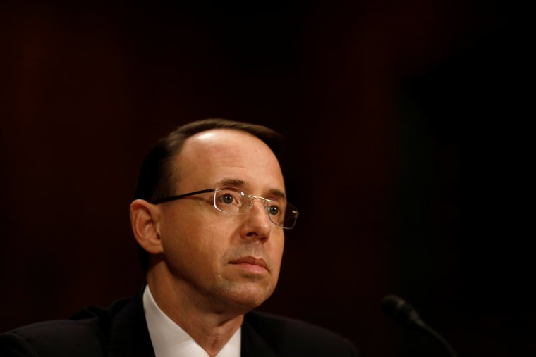 Image: Rod Rosenstein, nominee to be Deputy Attorney General, testifies before the Senate Judiciary Committee