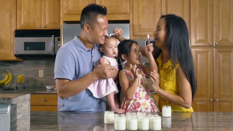 Fred Chen and Phuong Nguyen with their daughters Madeline and Margaret.