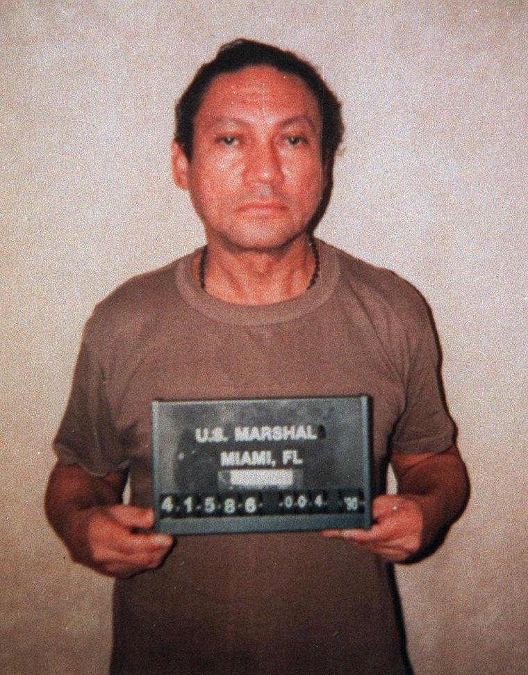 Image: Gen. Manuel Noriega in January 1990