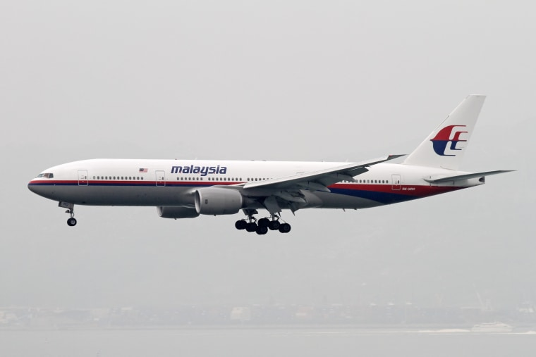 Image: A Malaysia Airlines Boeing 777-200, similar to the one that vanished in 2014.