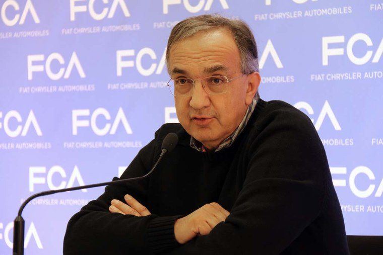 Fiat Chrysler Automobiles CEO Sergio Marchionne speaks at the 2017 Geneva Motor Show in Geneva, Switzerland.