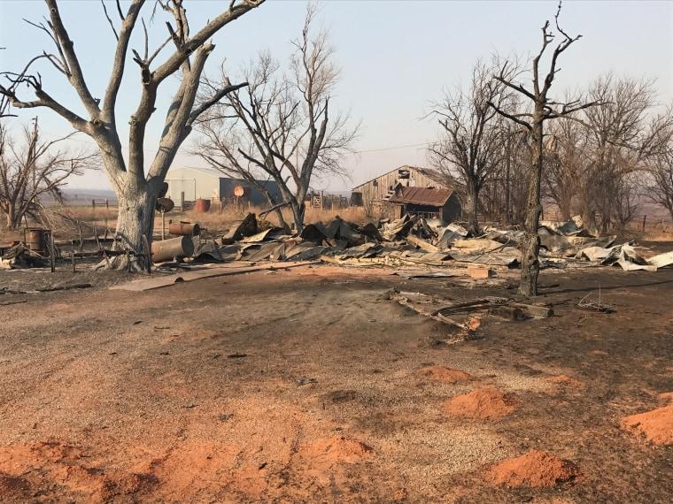 IMAGE: Harper County, Oklahoma, fire damage