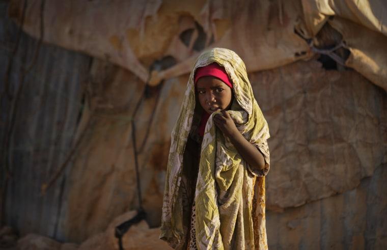 Image: A girl in Somalia