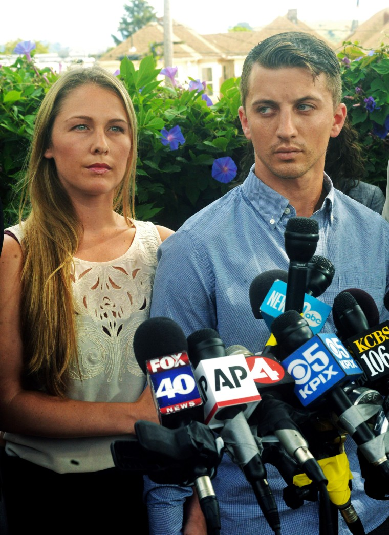 Image: Denise Huskins, left, and her boyfriend Aaron Quinn